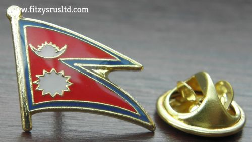 Nepal Country Flag Lapel Hat Cap Tie Pin Badge Loktntrik Ganatantra Nepl Asia